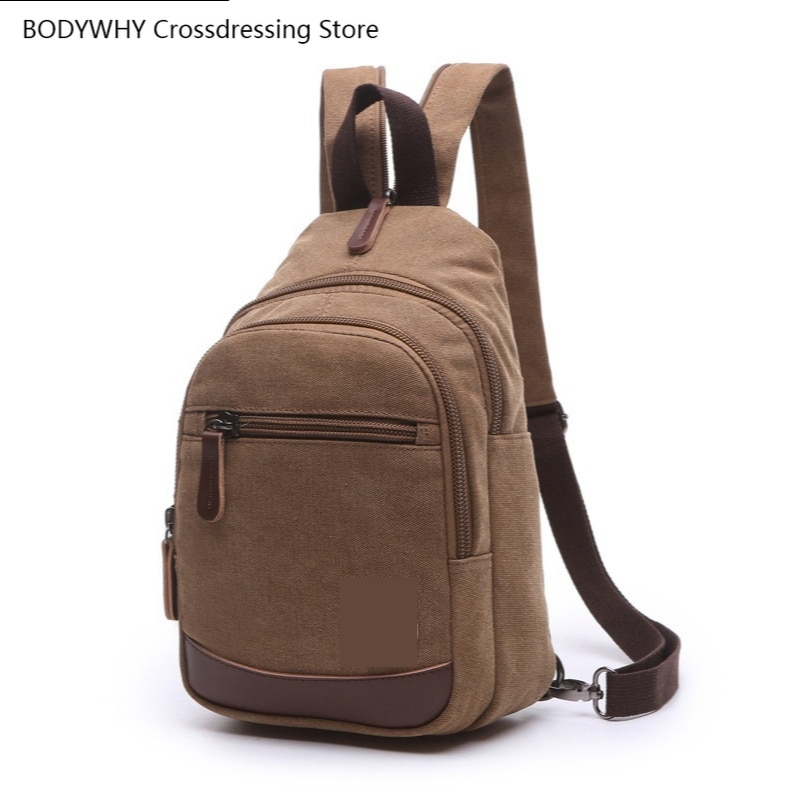 Shoulder Canvas Travel Bag, Street Fashion Trend, European and American Large-capacity Outdoor Men Women Crossbody Backpack