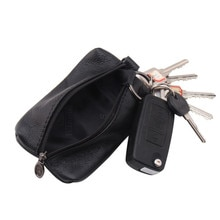 Car Key Case PU Leather Men Women Wallets Key Holder Housekeeper Covers Zipper Bag Keychain Cover fo