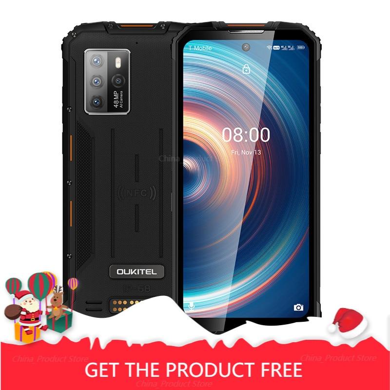 Перейти на Алиэкспресс и купить OUKITEL WP10 5G прочный смартфон глобальная Версия 8 ГБ + 128 ГБ 8000 мАч Мобильный телефон 6,67 дюймFHD полноэкранный MeditaTek 48MP Quad Camera