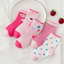 10 Pieces/Lot Unisex Skarpetki Newborn Sock Kids Boy Pink Rabbit Knit Cotton Soft Baby Socks Lovely