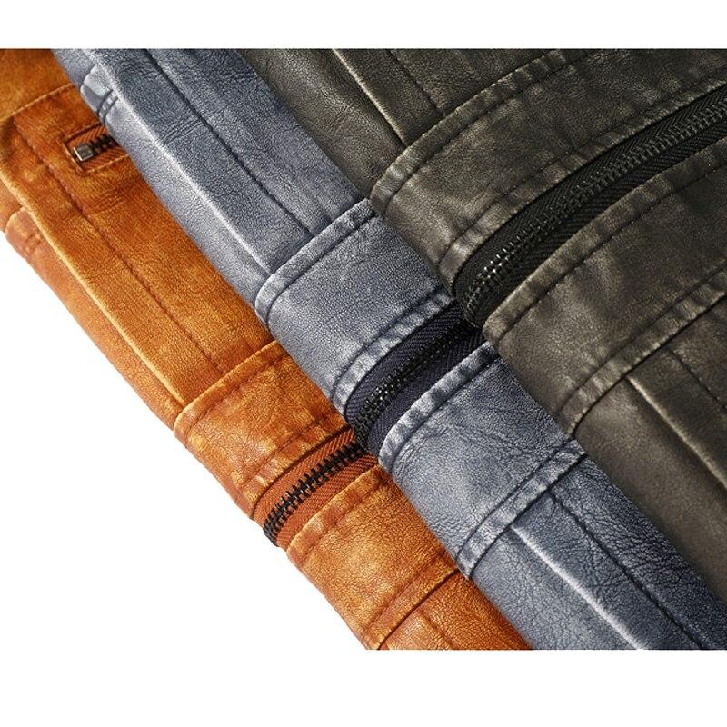Winter Fleece Lining Warm Jackets for Men jaqueta 2020 New Arrival Leather Jacket Men PU Jackets Male Motorcycle Coat MY227
