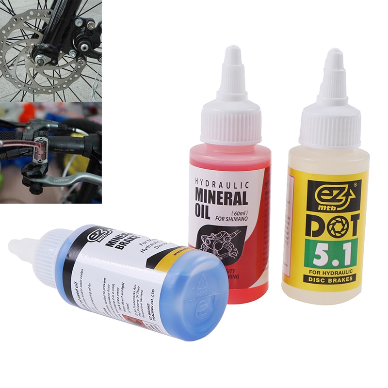Bicycle Brake Mineral Oil System 60ml Fluid For Cycling Mountain Bikes