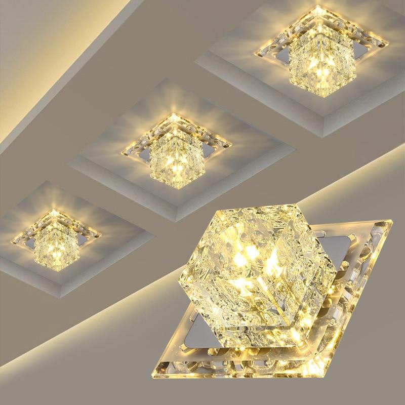 Led chandelier bedroom living room kitchen corridor entrance imitation diamond indoor ceiling Chandelier