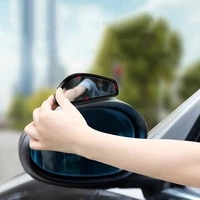 glass hd 1 pair car blind spot mirror car rearview auxiliary mirror hd large view convex glass wide angle rear view mirror 4
