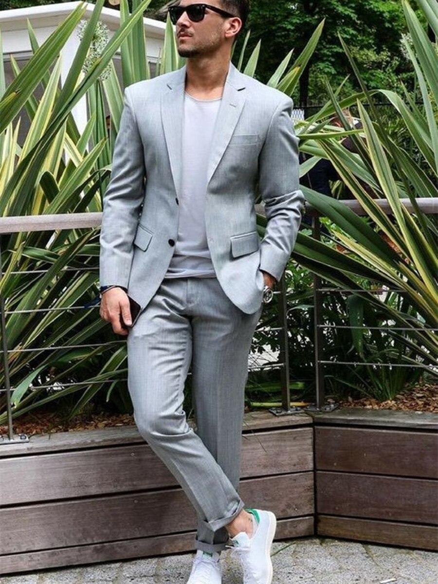 Handsome Two Buttons Groomsmen Notch Lapel Groom Tuxedos  Men Suits Wedding/Prom/Dinner Best Blazer(Jacket+Pants+Tie) 100