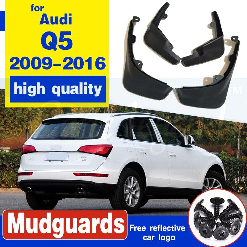 Fit For Audi Q5 2009-16 Molded Mudflaps Mud Flap Flaps Splash Guards Fender 2015 2014 2013 2012 2011 2010 Front Rear Accessories