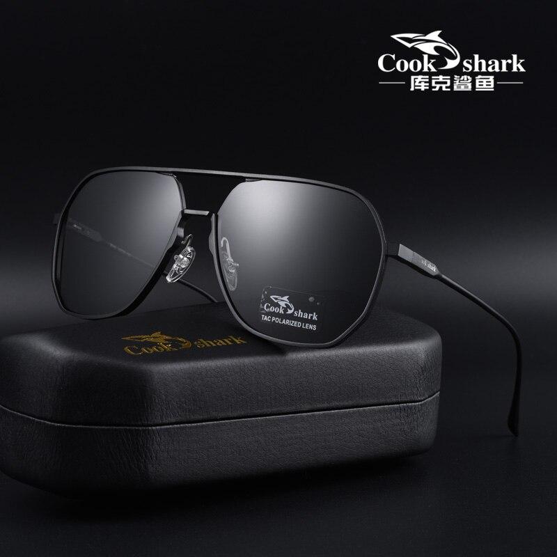 كوك شارك-نظارات شمسية مستقطبة للرجال ، للقيادة ، خاصة ، متغيرة الألوان ، ليلا ونهارا