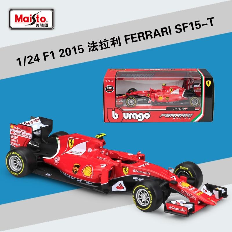 Bburago 1:24 F1 2015 Ferrari SF15-T Formula One Racing Alloy Simulation Car Model Collect gifts toy