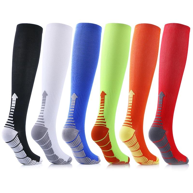 Компрессионные носки, спортивные беговые женские и мужские марафоны, циркуляция, атлетика, отеки, варикозные расширения вен, дорожные чулки...