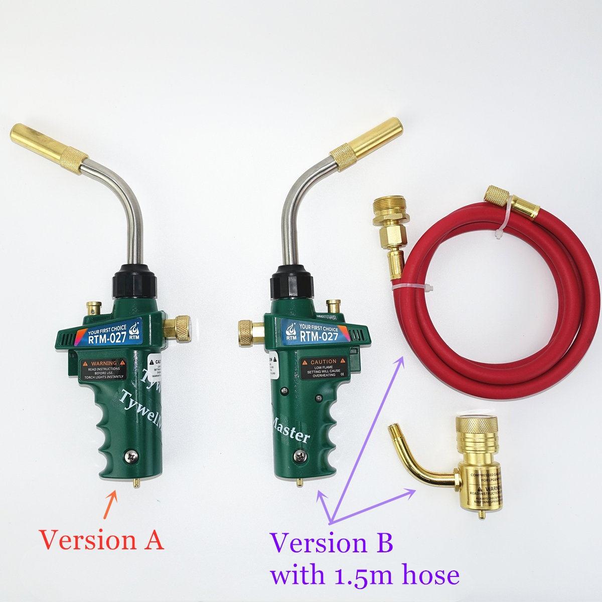 Professional Mapp Torch Piezo Ignition Gas Flame Brazing Tool 1.5m Hose CGA600 BBQ Heating Quenching HVAC Plumbing Welding Torch