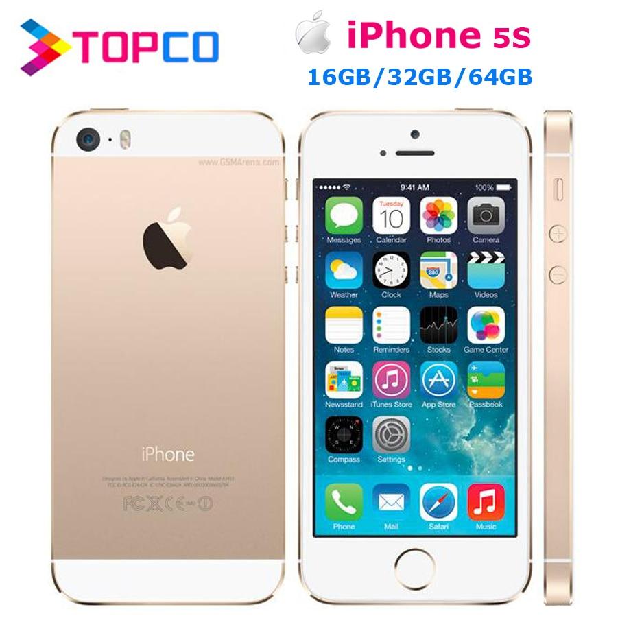 "5S iPhone 5s Factory Unlocked Apple iPhone 5s 16GB 32GB 64GB ROM 8MP iOS 4.0""IPS 8MP WIFI GPS SIRI 4G LTE Mobile Phone"