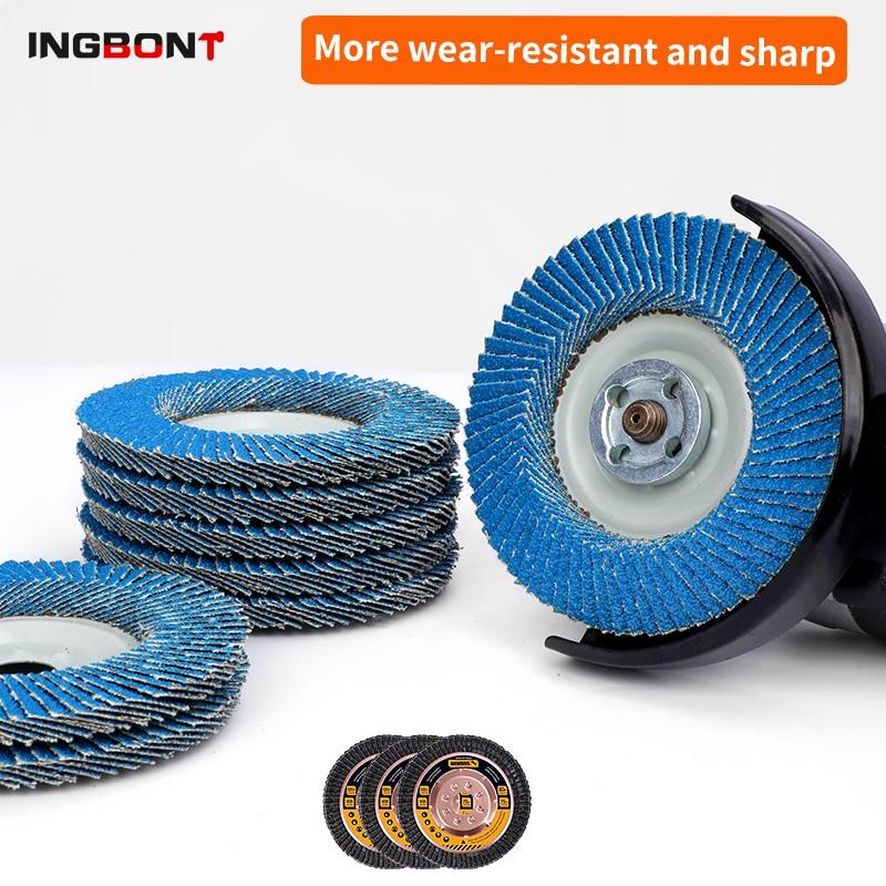 Профессиональные откидные диски INGBONT 100 мм, шлифовальные диски 4,5 дюйма, шлифовальные диски 80 Грит, лезвия для угловой шлифовальной машины
