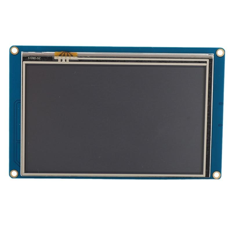 HOT-Nextion 5,0 pulgadas NX8048T050 Serial USART HMI Módulo de pantalla LCD inteligente 800X480 Panel de pantalla de prensa resistiva inteligente