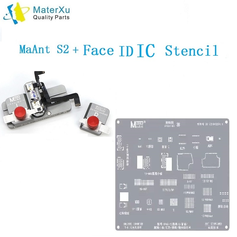 MaAnt S2 مع شاشة MaAnt Face IC IC Amaoe LCD 2 استنسل آيفون X XS XS MAX 11 11Pro 11Pro Max 12mini 12 12Pro AS JC AIXUN