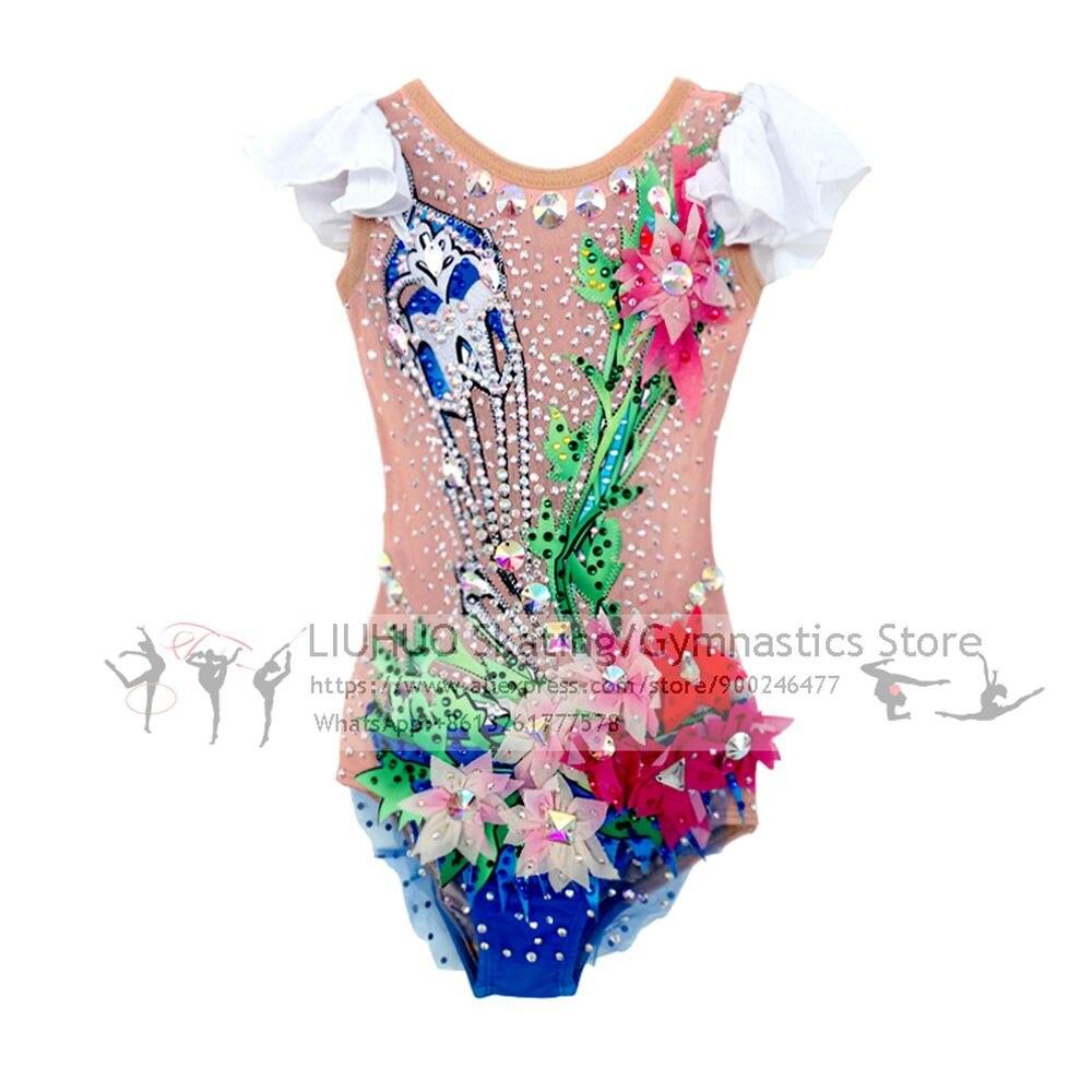 LIUHUO ثياب إيقاعية الفتيات الباليه أداء ارتداء النساء الاطفال المنافسة التنانير الإيقاعية ثياب الطفل التزلج على الجليد