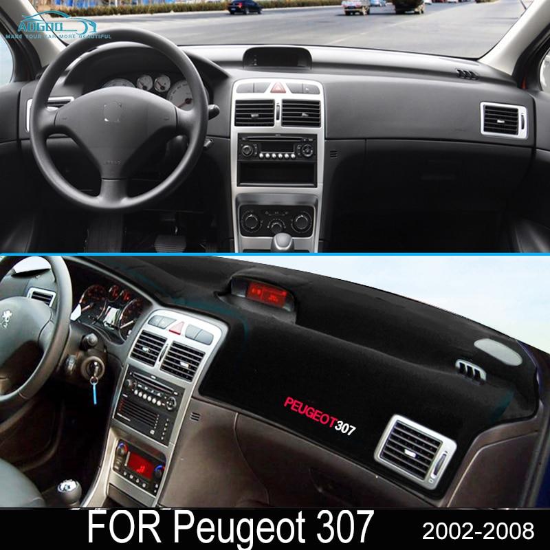 For Peugeot 307 2002~2008 307sw 307cc Anti-Slip Mat Dashboard Pad Sunshade Dashmat Protect Carpet Ac