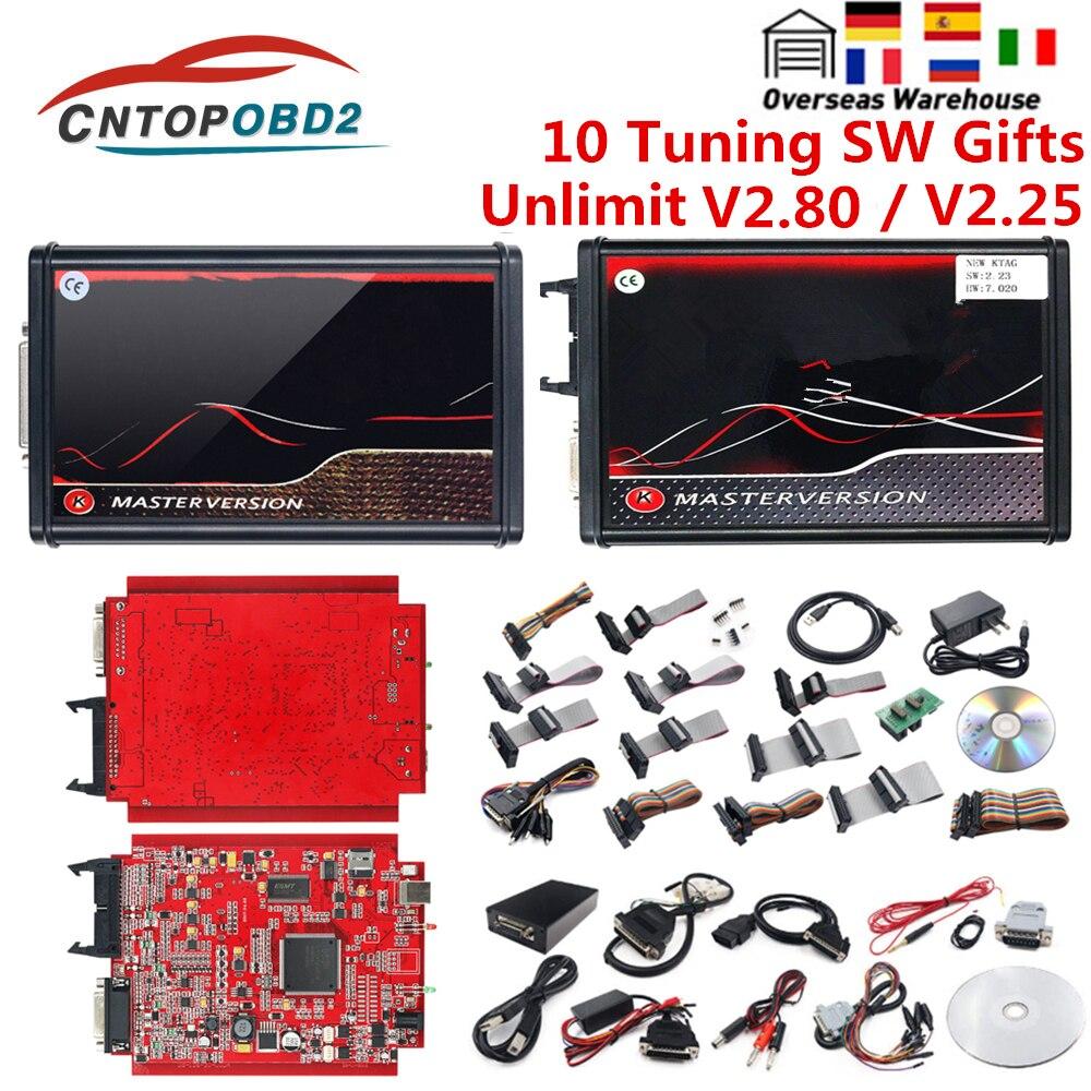 أداة برمجة ECU ، مبرمج ECU ، إطار BDM ، أداة تشخيص السيارة ، V2.80 KESS EU Red KESS V5.017 OBD2 ، 7.020 4 LED 2.25 ، عبر الإنترنت