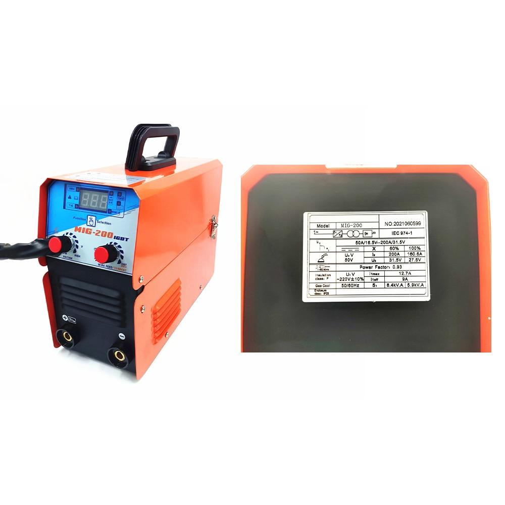 TIG MMA MIG Welder Machine Welder Semi-Automatic 220V Inverter Tig IGBT Gasless Mig Welder 3 in 1 Synergic Welding Machine 120A enlarge