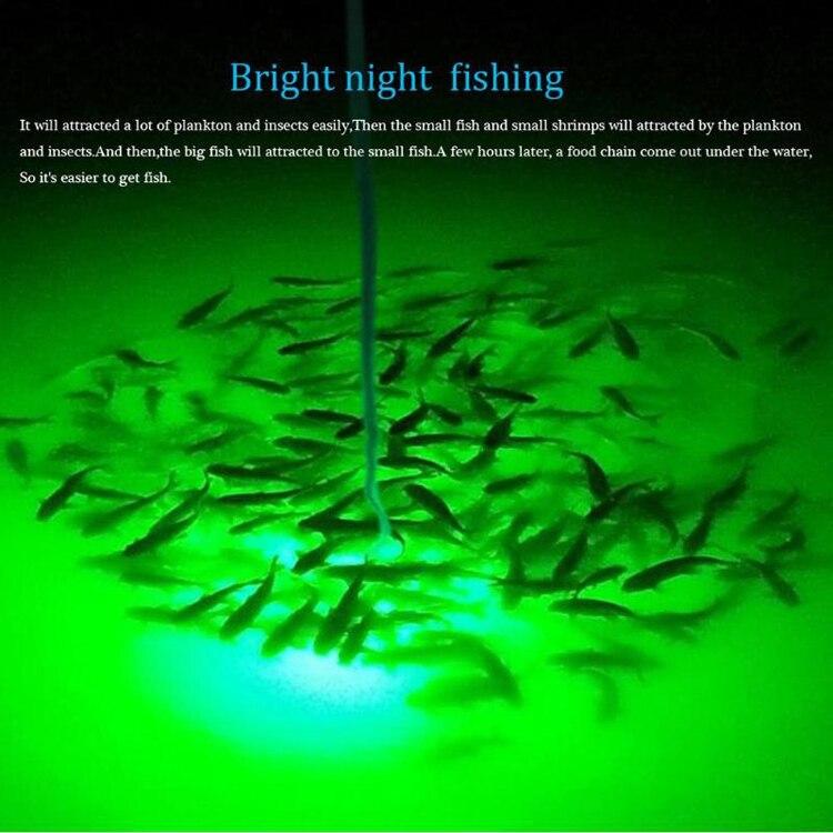 12-24v 250w verde led luzes de pesca da noite de aço inoxidável caso proteção poderoso led doca luzes de pesca