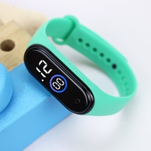 White Blue Light LED Sport Watches Kids Rubber Strap Digital Children Watch for Girls Boys Girt Relo