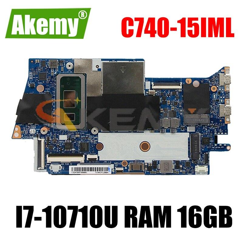 لينوفو اليوغا C740-15IML اليوغا C740-15 اللوحة المحمول FYG41 NM-C431 اللوحة CPU i7-10710U ذاكرة الوصول العشوائي 16 جيجابايت اختبار موافق اللوحة الرئيسية