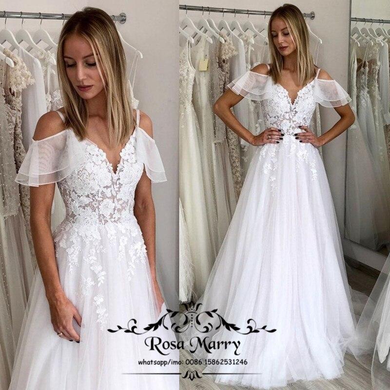 فستان زفاف ريفي من الدانتيل ، مقاس كبير ، على الطراز اليوناني ، بوهيمي ، عتيق ، رخيص ، 2020