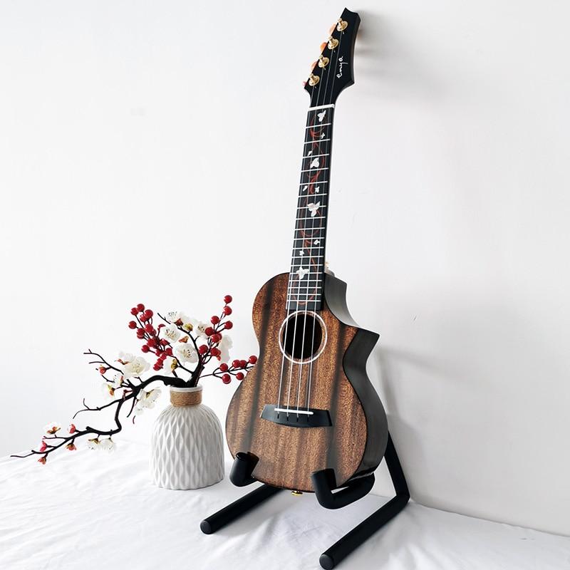 Solid Ukulele Mahogany Enya M6 Uke concert tenor Black kits 23/26inch Blue Ukelele Hawaii mini guitar musical instruments enlarge