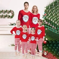 winter 2020 new home wear pajamas popular set santa claus matching family outfits christmas outfits matching couple outfits