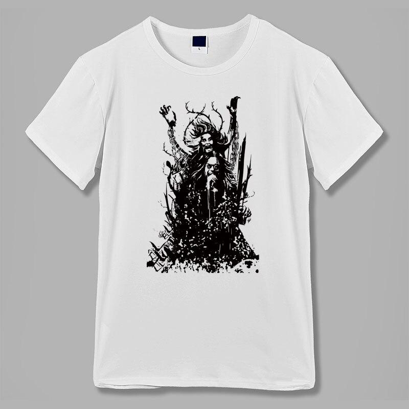 Negro metal goth rock heaven and hell cross evil eye tatuaje print hombres mujeres camiseta raglan ringer mangas cortas Camisetas cuello redondo
