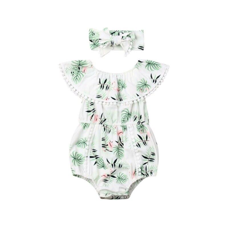 0-24M adorable bebé recién nacido flamenco ropa colmena mameluco traje de verano
