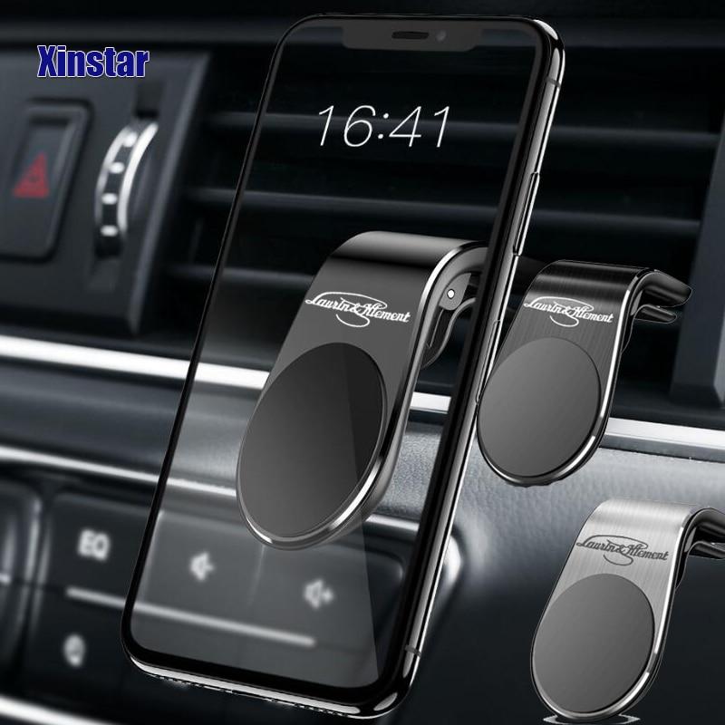 Soporte de teléfono para coche, accesorios de estilo de coche para Skoda MK2 Kamiq Fabia Rapid Yaris Kodiaq Octavia Superb Scala Karoq