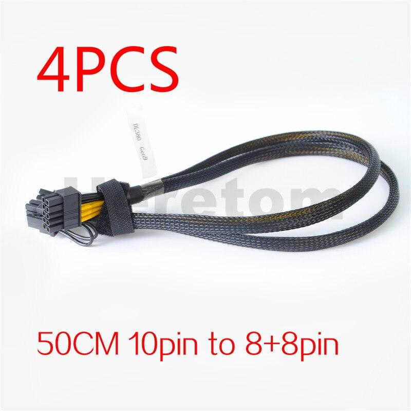 4 قطعة 10pin إلى 8 + 8pin GPU فيديو بطاقة محول الطاقة كابل ل HP DL380 G9 GPU كابل 50 سنتيمتر