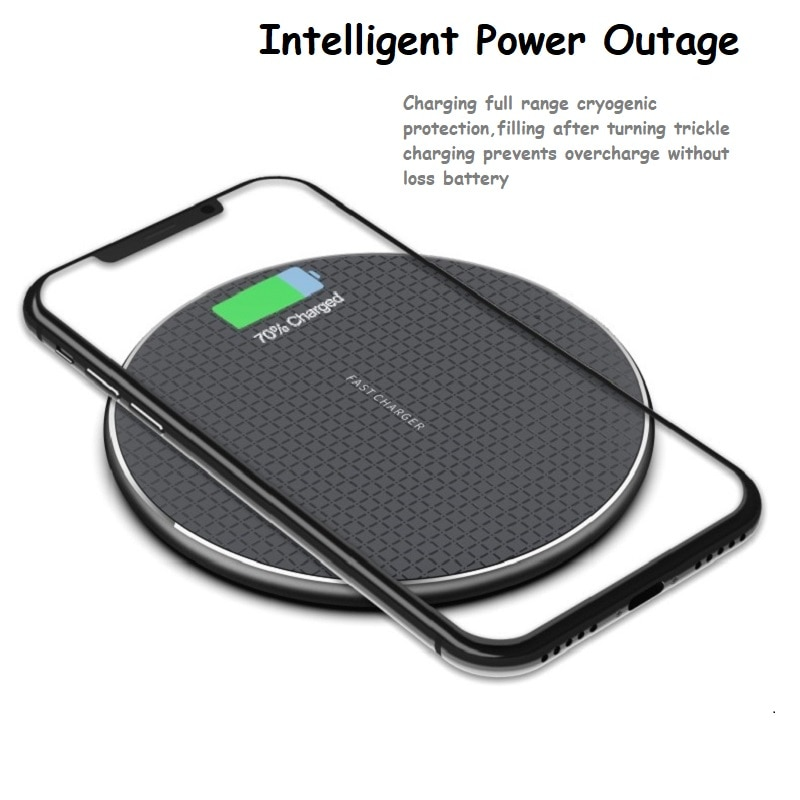 QI Wireless Charger Pad For iPhone 11 Xs Max X XR 8 Plus Fast Charging For Samsung Note 9 Note 8 S10 Quick Induction Charger