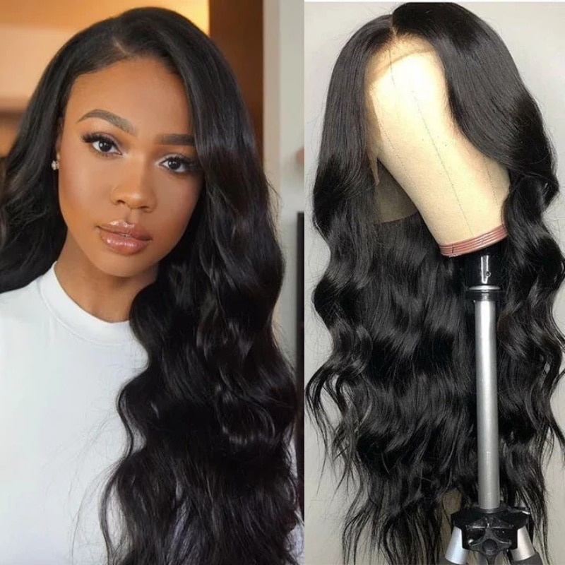 Missanna 16-38 Long Inchs Body Wave 13x6 Transparent Lace Frontal Wig 100% Brazilian Remy Human Hair HD Lace Frontal Human Hair