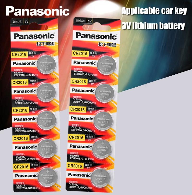 Panasonic Top Quality Lithium Battery 10PCS/LOT 3V Li-ion cr2016 Button Battery Watch Coin Batteries