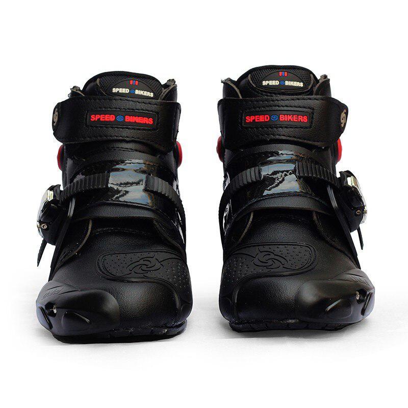 Botas de motociclista a prueba de agua, botas de carreras de Motocross, botas protectoras antideslizantes para motociclismo, botas fuera de carretera, zapatos