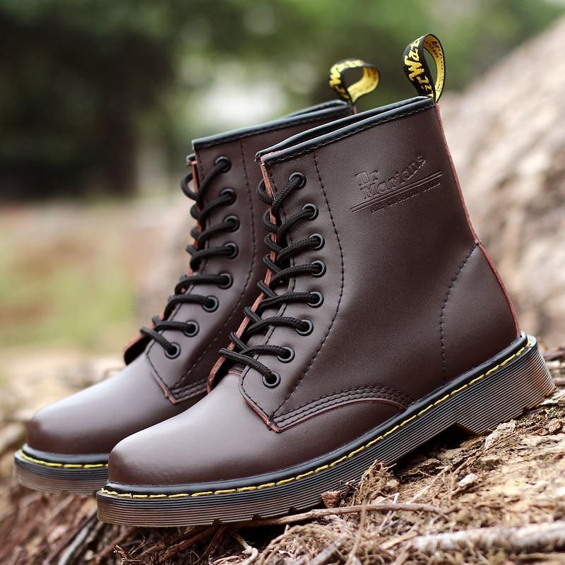Botas inglesas para Hombre Zapatos de trabajo elegantes para Hombre Zapatos casuales par de botas de cuero Split Otoño Invierno botas de tobillo talla 35 -46