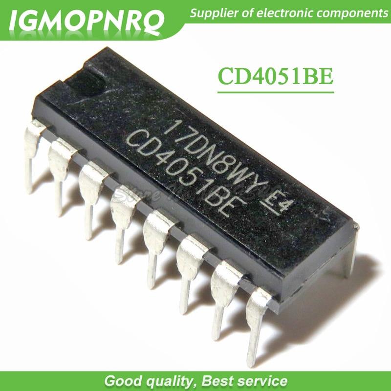 10PCS CD4051 CD4051BE DIP logic  switch New Original
