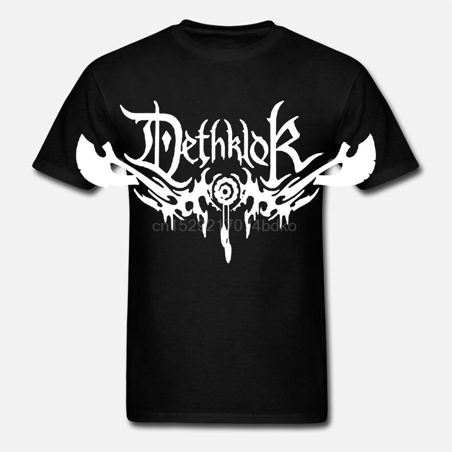 Nuevo dethklock Metal Rock Band Logo hombres negro Camiseta talla S a 3XL Unisex