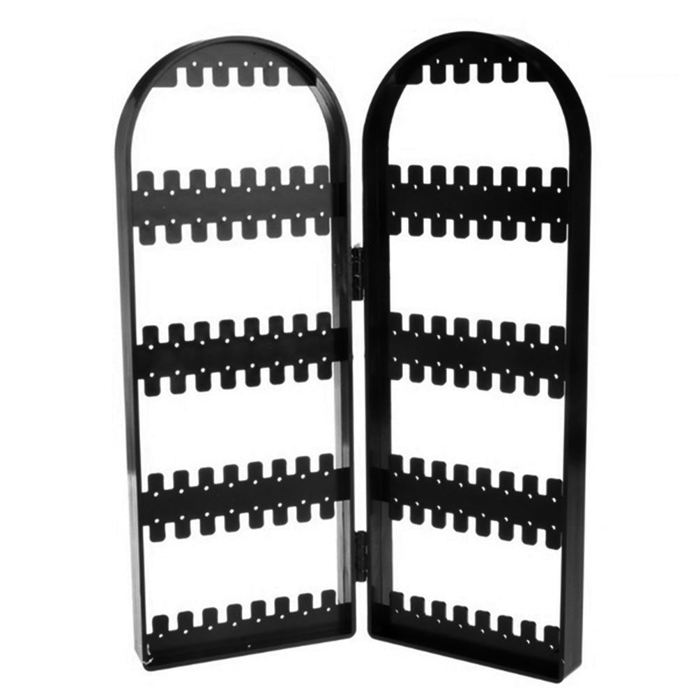 Лидер продаж! Новое поступление 120 отверстий складной держатель для сережек Органайзер экран дисплей для ювелирных изделий стеллаж для хра...