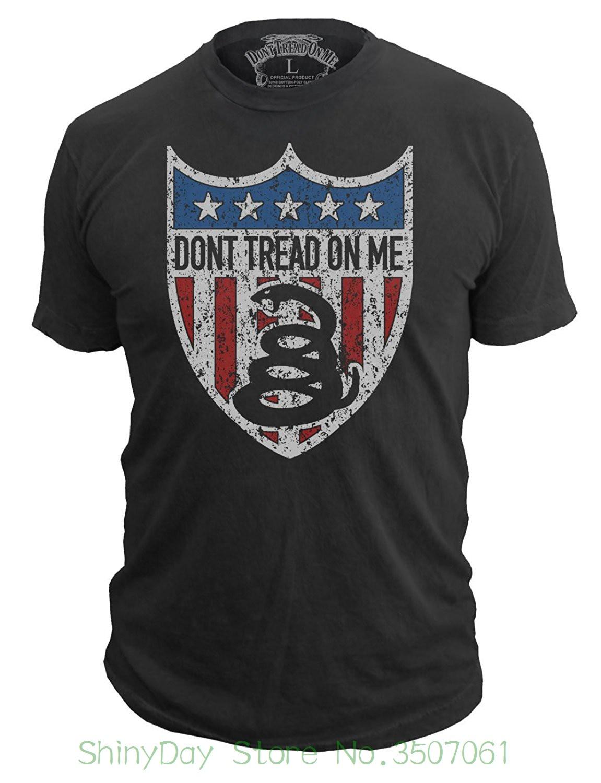 """100% algodão manga curta o-pescoço topos camisetas não pisar em mim marca masculina """"american badge"""" dtom vintage camiseta"""