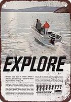 new tin sign iron retro 1966 mercury boat motors metal sign