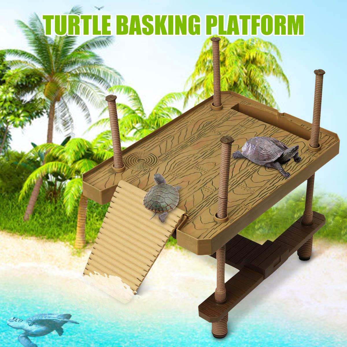 Aquário ornamentos réptil tartaruga pier flutuante basking plataforma 41x28 cm tanque de aquário decoração anfíbio lazer mesa quadrada