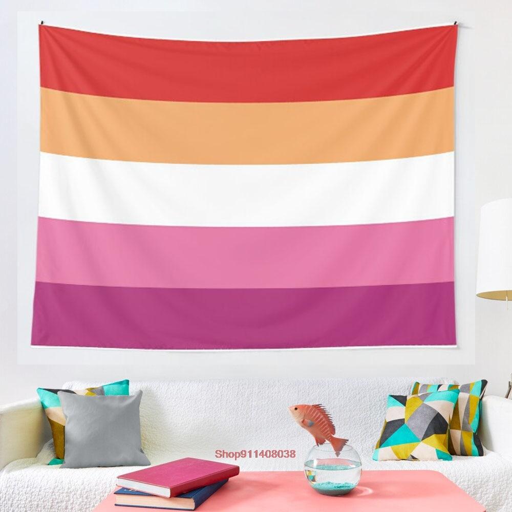 ЛГБТ A лесбийская гордость гобелены с флагом настенные гобелены для гостиной спальни домашний декор