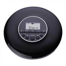 Stereo Geluid Draagbare Cd Speler Lcd-scherm Thuis 3.5 Mm Jack Kids Volwassenen Oplaadbare Schokbestendig Reizen Met Oortelefoon Discman