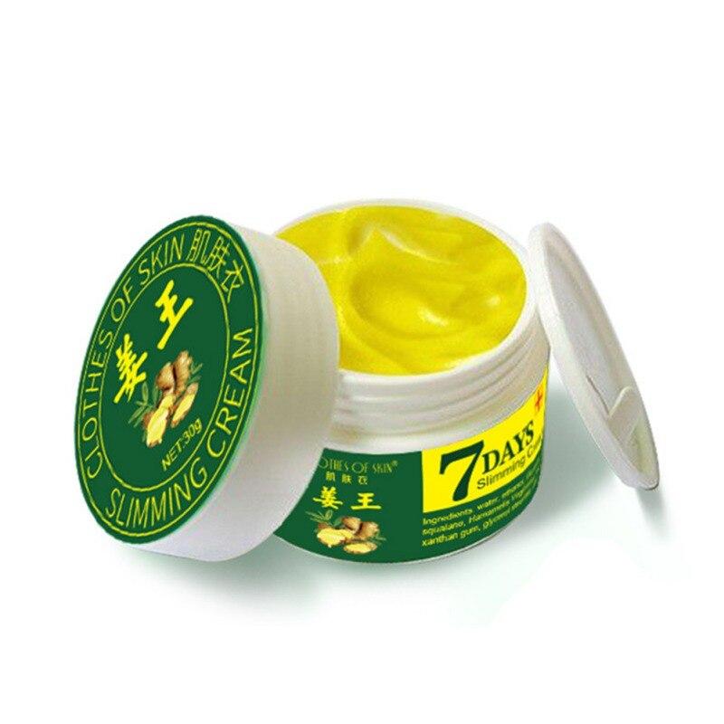 7 días crema adelgazante de jengibre quema rápida grasa pérdida de peso cuidado corporal reafirmante eficaz Lifting firme salud