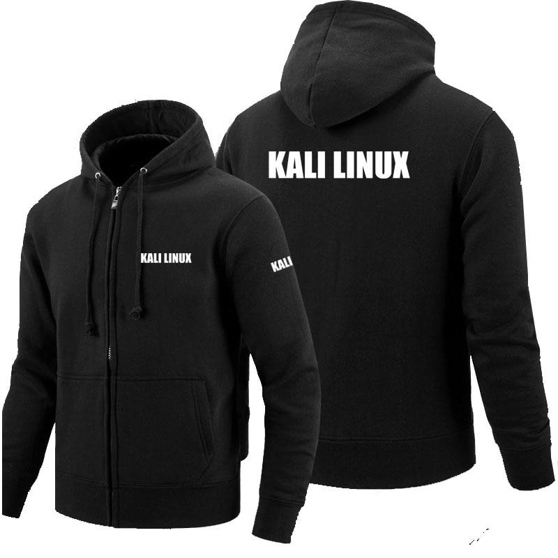 Winter autumn long-sleeved zipper hoodies Kali Linux zipper sweatshirt clothes man solid coat tops jackets