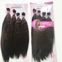adorable synthetic hair extension weave bundles with closure wetwavy 4pcs1 set 20 2inch natural color african american afro