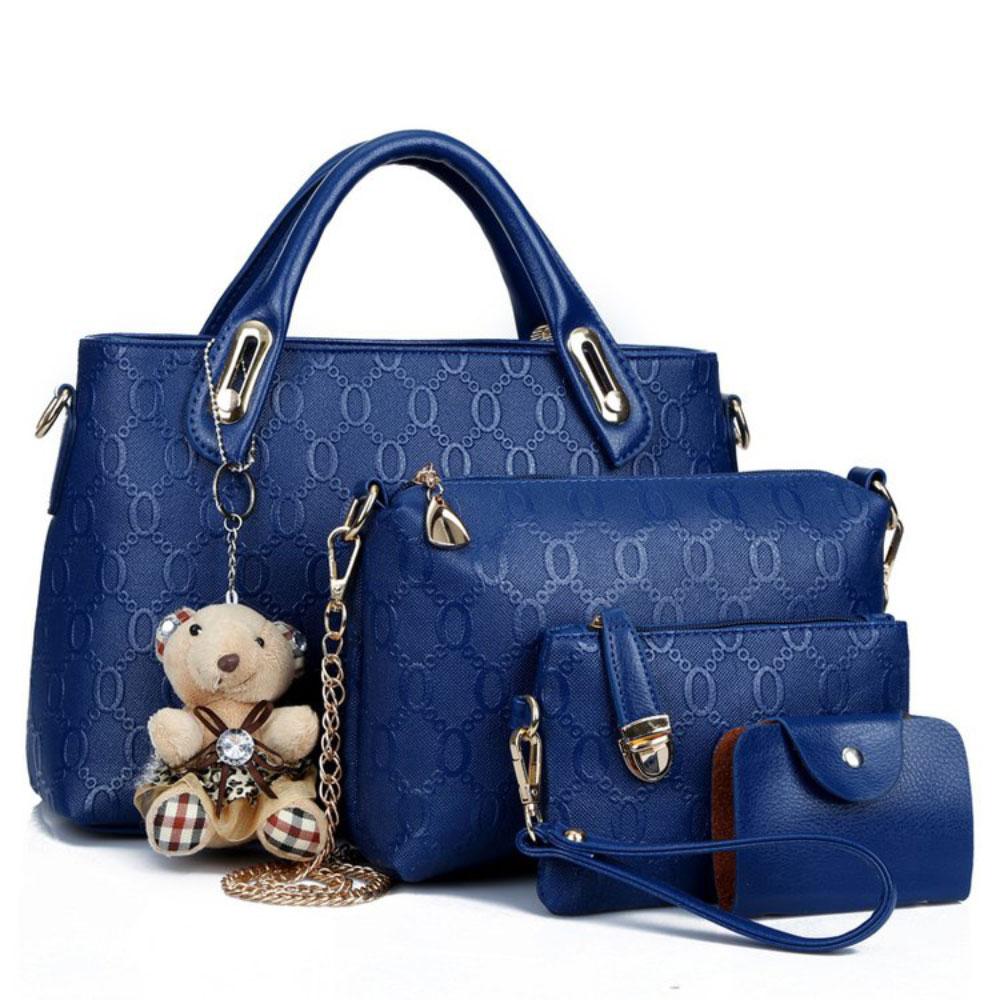 Nova chegada de quatro peças conjunto bolsa de ombro na moda saco de imagem pacote bolsa de ombro/saco de mão das mulheres bagcrossbody saco de cartão