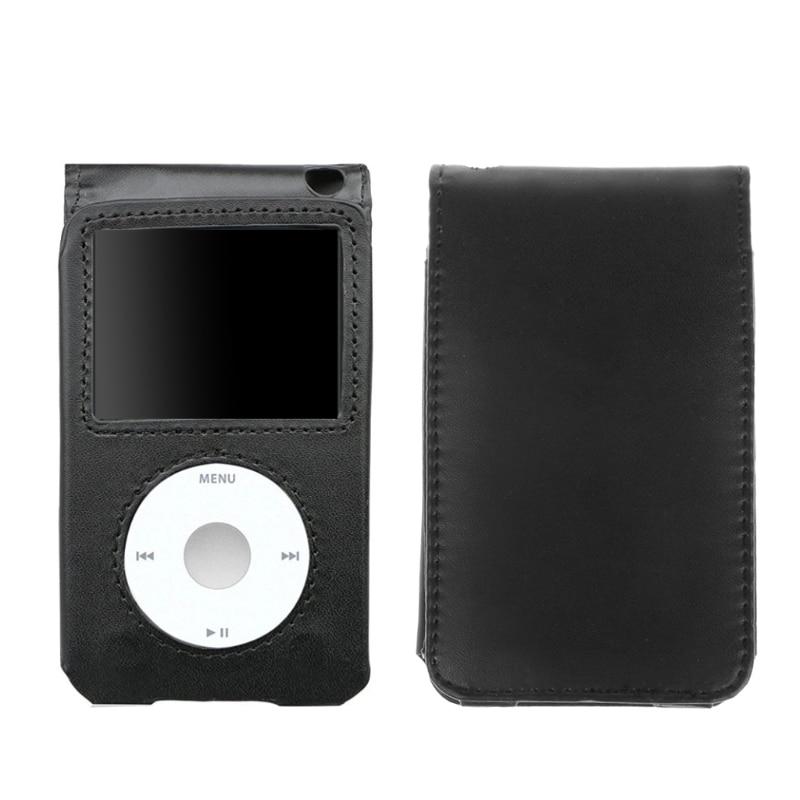Housse en cuir pour Apple iPod Classic 80/120/160GB avec pince détachable Y3ND